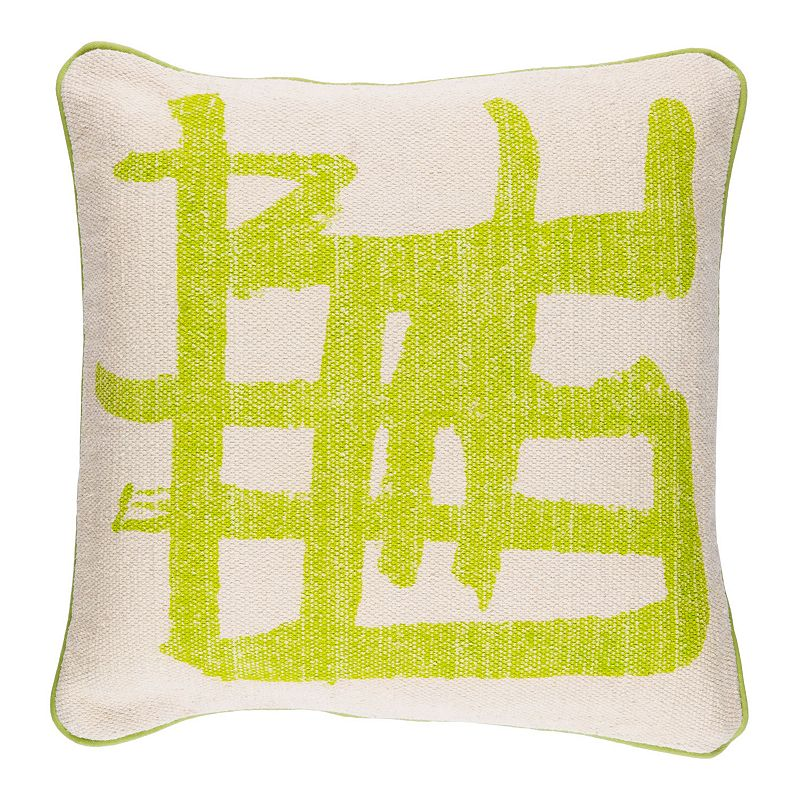 Decor 140 Angel Pillow Cover, Green, 20X20