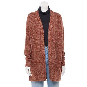 Juniors' SO® Long Sleeve Side Grommet Cardigan Sweater