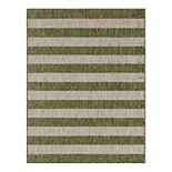 Unique Loom Distressed Stripe Outdoor Rug