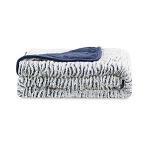 Dream Theory Faux Fur Reversible to Mink Weighted Throw - 10lbs.