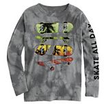 Boys 8-20 Skate All Day Skateboard Long Sleeve Graphic Tee