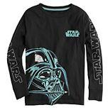 Boys 8-20 Star Wars Darth Vader Long Sleeve Graphic Tee