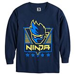 Boys 8-20 Ninja Logo Long Sleeve Graphic Tee