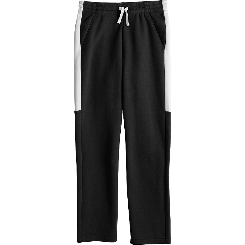 Boys 4-20 Tek Gear Colorblock Ultrasoft Fleece Pants, Boy's, Size: XL(18/20), Black