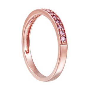 10k Rose Gold Lab-Created Pink Sapphire Ring