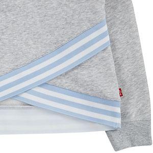 Girls 7-16 Levi's Lightweight Fleece Crossover Hem Logo Hoodie