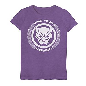 Girls 7-16 Marvel Black Panther Finder Your Power Tee