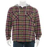Big & Tall Unionbay Hooded Button-Down Flannel Shirt