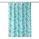Saturday Knight, Ltd. Ocean Watercolor Scales Shower Curtain
