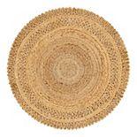 Unique Loom Floral Braided Jute Rug