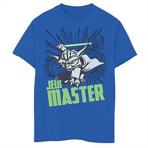 Boys 8-20 Star Wars: Clone Wars Yoda Jedi Master Action Pose Graphic Tee