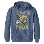 Boys 8-20 Star Wars: Clone Wars Jedi Master Yoda Big Face Graphic Fleece Hoodie