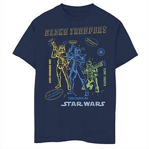 Boys 8-20 Star Wars: Clone Wars Clone Troopers Doodles Graphic Tee