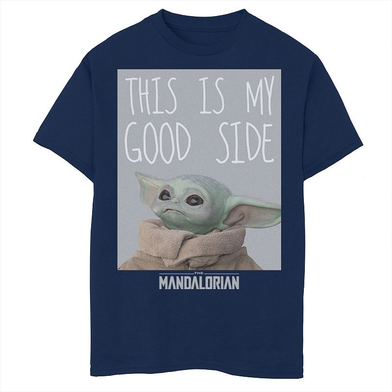 Boys 8-20 Star Wars The Mandalorian The Child This Is My Good Side Graphic Tee, Boy's, Size: Large, Blue