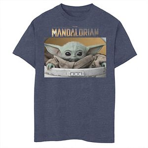 Boys 8-20 Star Wars The Mandalorian The Child Big Eyes Portrait Logo Graphic Tee