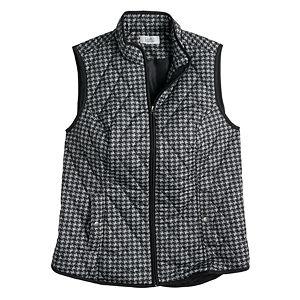 Women's Croft & Barrow® Woven Quilted Vest