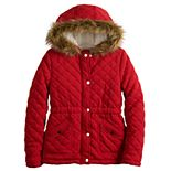 Girls 7-16 SO® Quilted Hooded Fleece