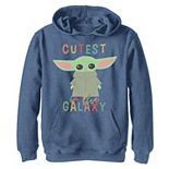 Boys 8-20 Star Wars Mandalorian The Child aka Baby Yoda Cutest In The Galaxy Graphic Hoodie