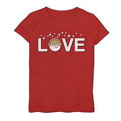 Girls 7-16 Star Wars The Mandalorian The Child aka Baby Yoda Love Valentine's Day Graphic Tee