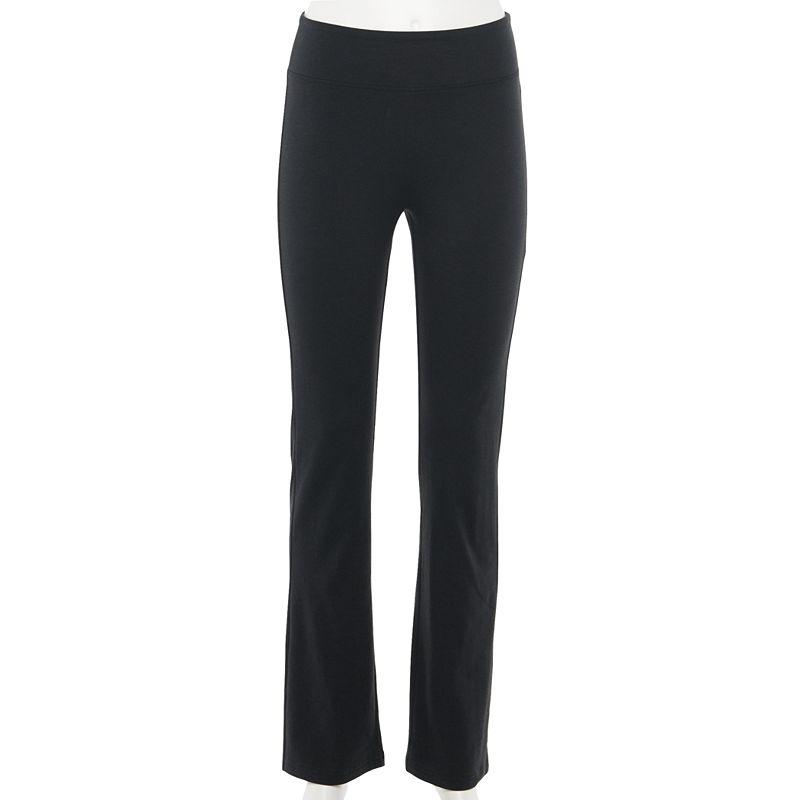 Juniors' SO Bootcut Yoga Pants. Girl's. Size: XS. Black