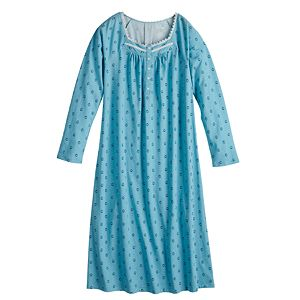 Women's Croft & Barrow® Lace Trim Nightgown
