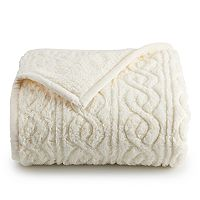 Deals on Cuddl Duds Sherpa Throw
