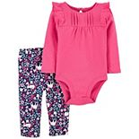 Baby Girl Carter's 2-Piece Ruffle Pant Set