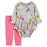 Baby Girl Carter's 2-Piece Floral Peplum Set