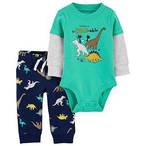 Baby Boy Carter's 2-Piece Dinosaur Pant Set