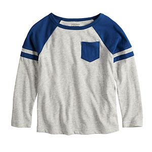 Toddler Boy Jumping Beans® Colorblock Raglan Pocket Tee