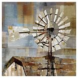 Fine Art Canvas Barn Windmill Canvas Wall Art