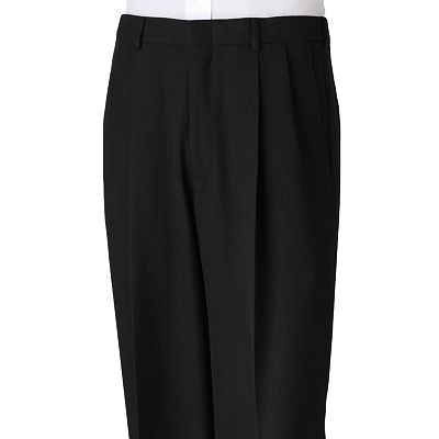 Haggar Subtle Texture Pleated Dress Pants