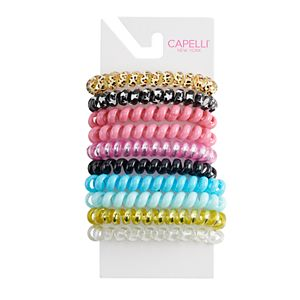 Girls Elli by Capelli 10-Pack Phone Cord Pony Tail Holders