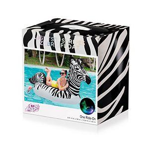 Bestway H2OGO! Lights ?N Stripes Zebra Ride-On Pool Float with LED Light