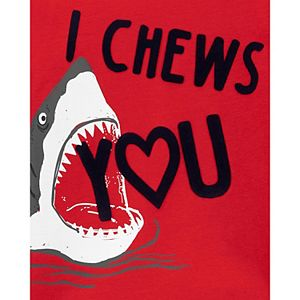 "Baby Boy Carter's ""I Chews You"" Shark Jersey Tee"
