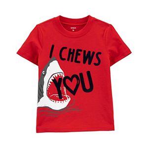 "Baby Boy Carter's ""I Chews You"" Shark Jersey Tee"