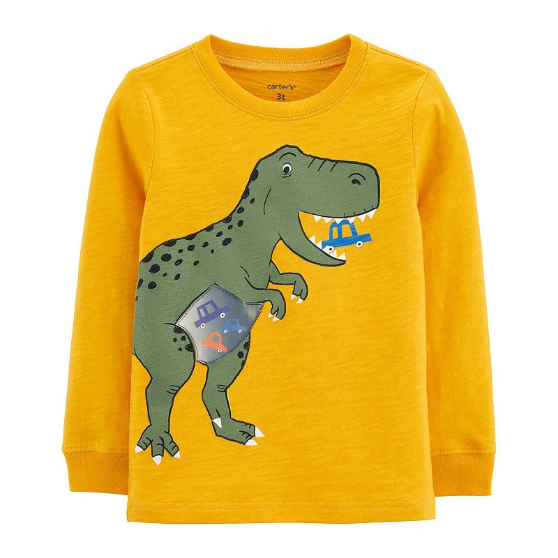 Toddler Boy Carter's Dinosaur Action Graphic Slubbed Tee, Toddler Boy's, Size: 5T, Yellow