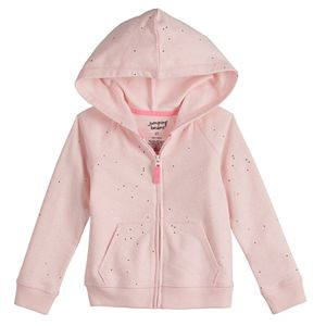 Toddler Girl Jumping Beans® French Terry Zip-Up Hoodie