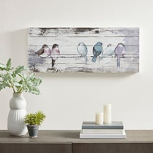 Madison Park Perched Birds Plank Wall Art