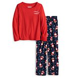 Girls 4-16 Jammies For Your Families® Happy Santa Top & Pants Pajama Set