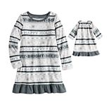 Girl's 4-16 Jammies For Your Families® Microfleece Nightgown & Doll Gown Set