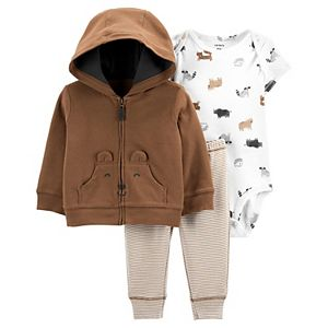 Baby Girl Carter's 3-Piece Bear Jacket Set