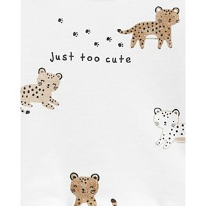 Baby Boy Carter's 3-Piece Leopard Peplum Top & Pant Set