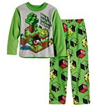 Boys 6-12 Minecraft Boom Treasure 2-Piece Top & Bottoms Pajama Set