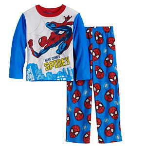 Boys 4-10 Marvel Spider-Man Heroes 2-Piece Top & Bottoms Pajama Set