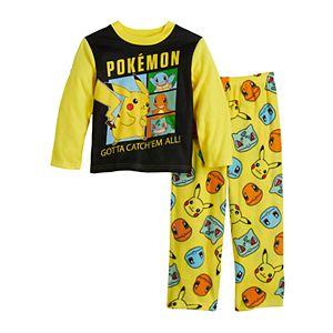Boys 4-10 Pokemon Pikachu Group 2-Piece Pajama Set