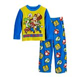 Boys 4-10 Nintendo Mario Game 2-Piece Pajama Set