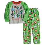 Boys 6-12 Minecraft Seasons Greetings 2-Piece Shirt & Pants Pajama Set