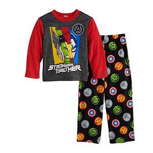 Boys 4-10 Marvel Avengers Heroes 2-Piece Pajama Set