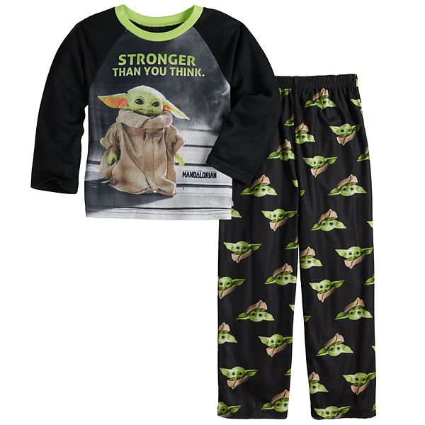 Boys 6-12 The Mandalorian The Child aka Baby Yoda 2-Piece Shirt & Pants  Pajama Set